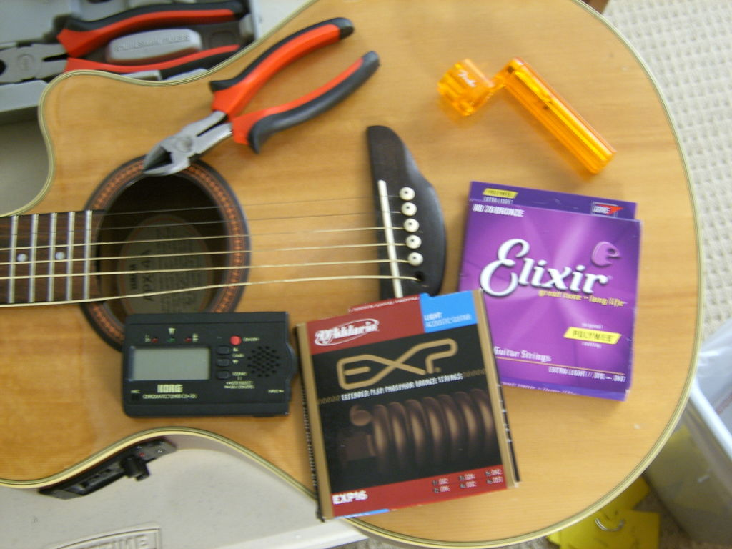 how to string a guitar